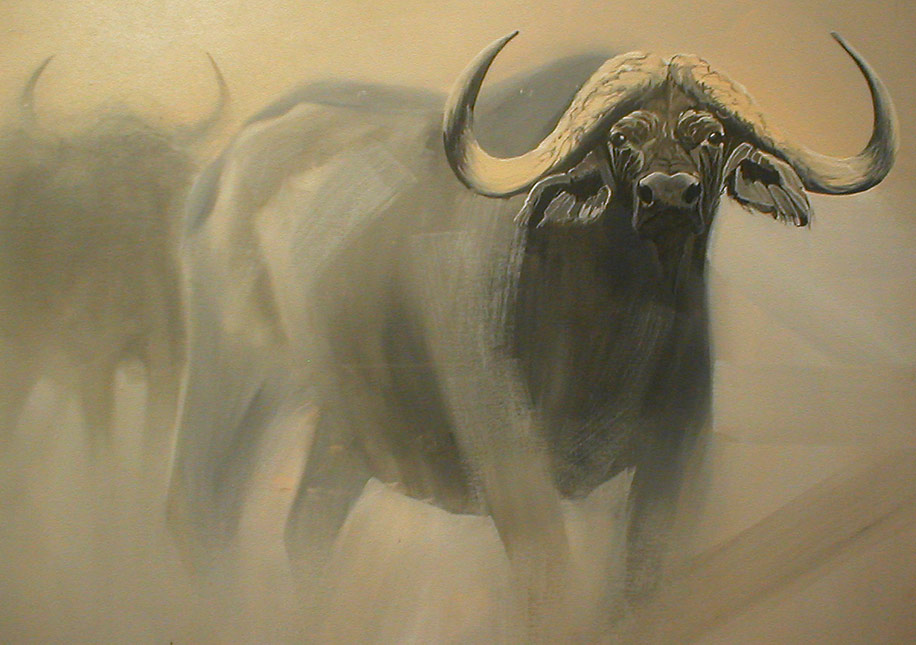 Buffalo by Ralph Resnik Wildlife Artist