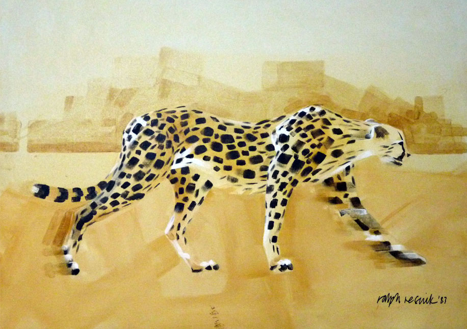 Cheetah Walking by Ralph Resnik Wildlife Artist